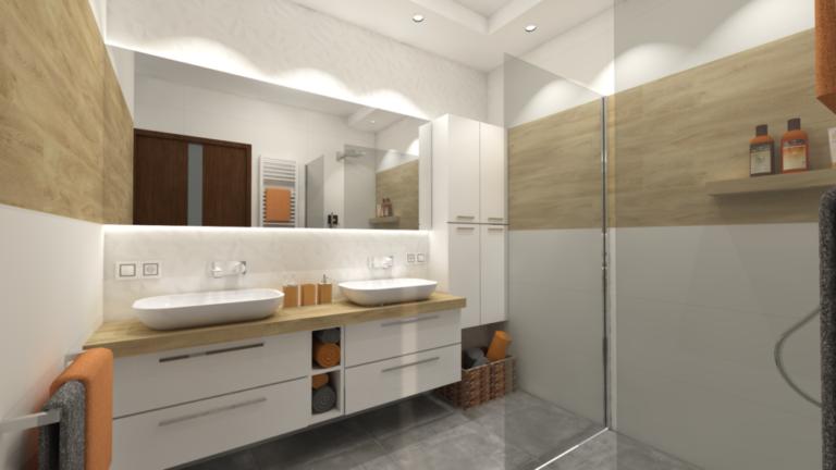 wizualizacja projekt łazienki Warszawa