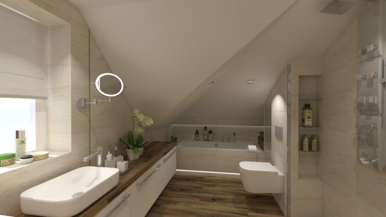 Wizualizacja łazienki Warszawa